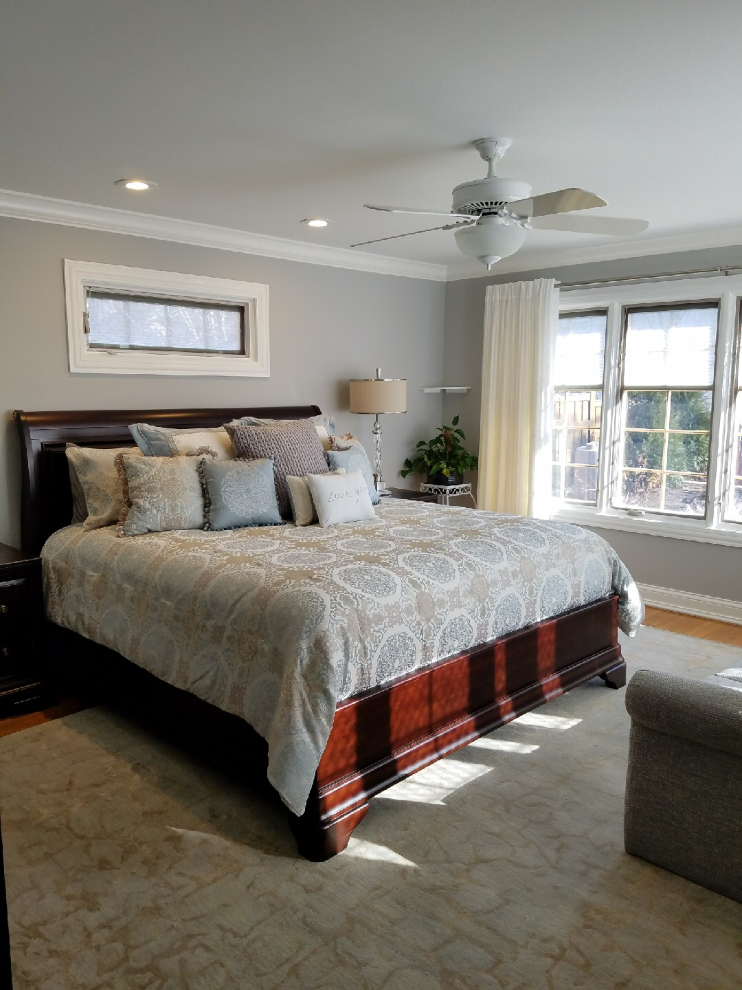 Master Bedroom With Oak Floor And New Trim Rooms For